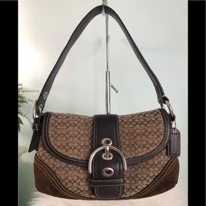 COACH Signature Soho Flap Bag #F10925
